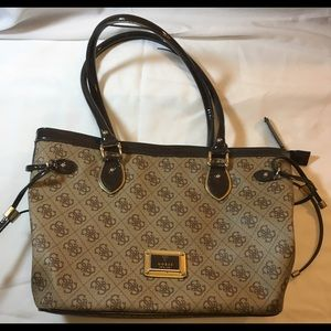 Guess Purse Handbag Brown Tan